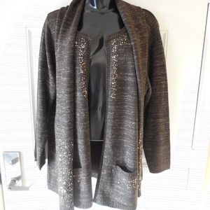 Susan Graver Open Front Cardigan Sweater/Scarf